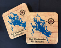 Lake Custom Hard Board Printed Coasters