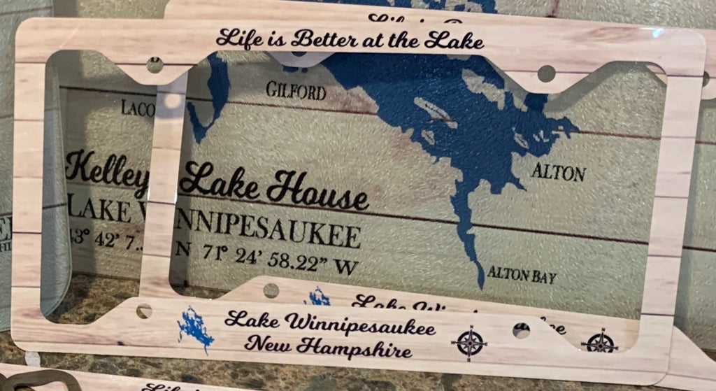 Life is Better on the Lake License Plate Frame