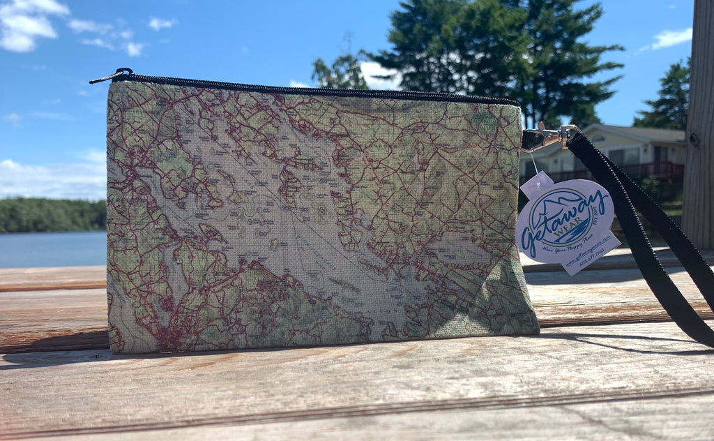 Lake Winnipesaukee Map Cosmetic Bag