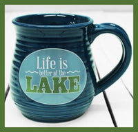 life is better at the lake mug