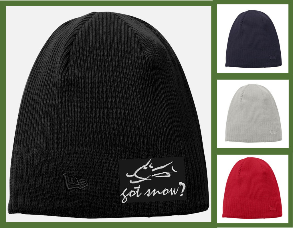 custom embroidered fleece lined beanie NE900 - got snow
