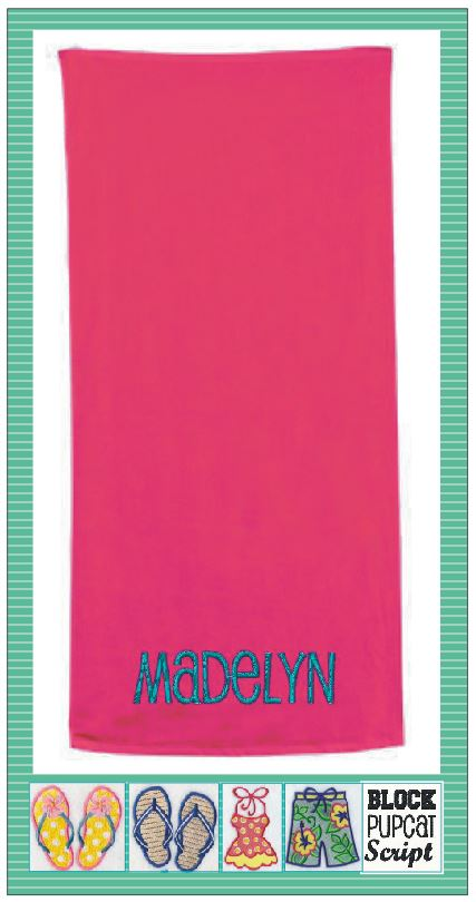 Personalized Beach Towel - GetawayWear® Inc.