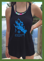 lake winnipesaukee map tank top