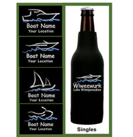 Custom Embroidered Boat Zip Koozie