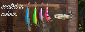 Old Dog Lures - coated in colour - slide