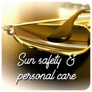 sun safety and personal care graphic - old dog lures