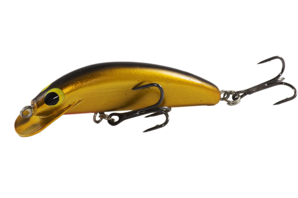 Barra Snax Shallow - 80mm - timber fishing lure - That's Gold colour - Old Dog Lures