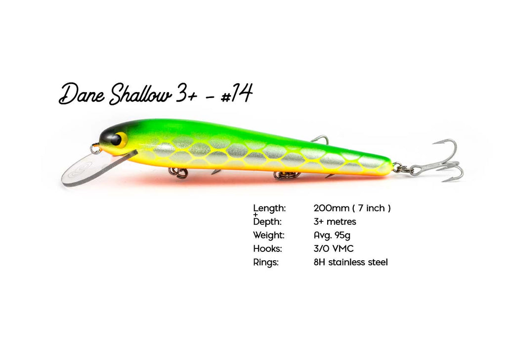 The Dane Shallow 3+ - 200mm Handcrafted Timber Fishing Lure
