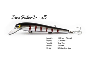The GREAT Dane Shallow 3+ - 200mm Handcrafted Timber Fishing Lure