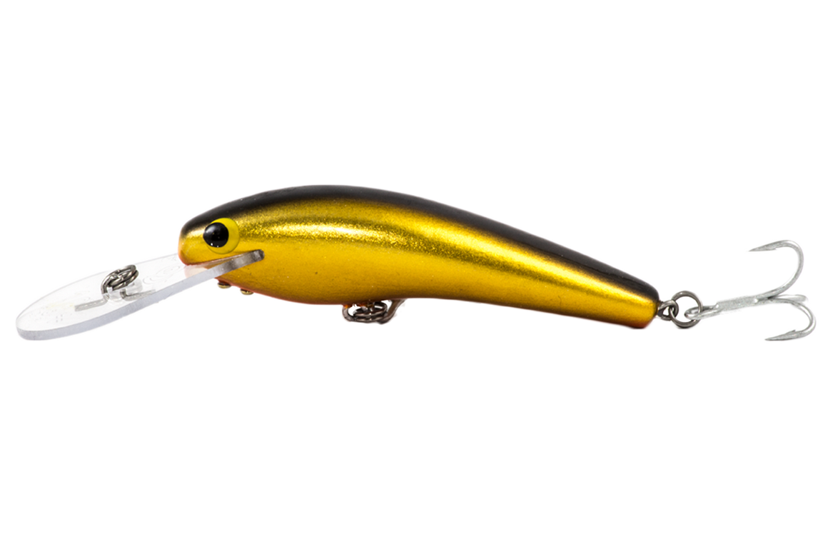 Guttermaster Deep 10+ - 100mm - timber fishing lure - Banana colour - Old Dog Lures