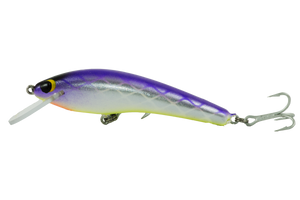 Guttermaster Shallow - 100mm - timber fishing lure - Purple Rain colour - Old Dog Lures