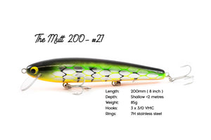 The BIG Mutt Shallow - 200mm Handcrafted Timber Fishing Lure