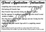Decal Application Instructions Basic *Printable*