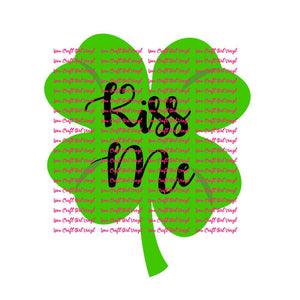 Kiss Me Clover Cut File
