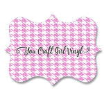 Light Pink Houndstooth Patterned Vinyl 12x12
