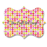 Valentine Hearts Patterned Vinyl 12x12