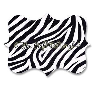 Zebra Print Patterned Vinyl 12x12
