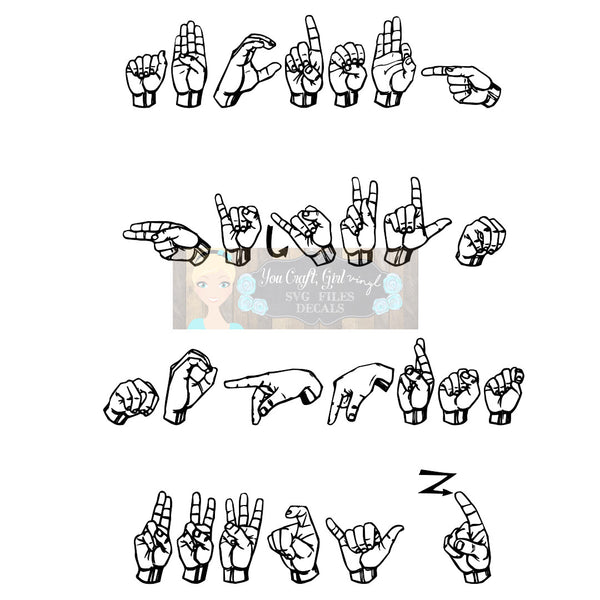 ASL Alphabet Cut File