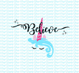 Unicorn Believe Cut File