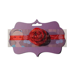 Headband Display Card Digital Cut File