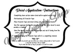 Decal Application Instructions *Printable*