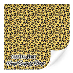 Cheetah Print Patterned Vinyl 12x12