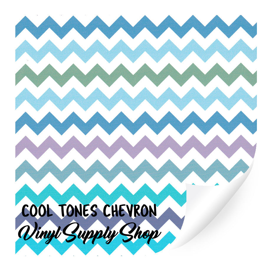 Cool Tones Chevron Patterned Vinyl 12x12