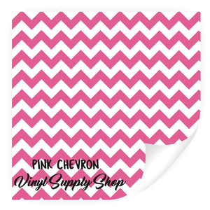 Pink Chevron Patterned Vinyl 12x12