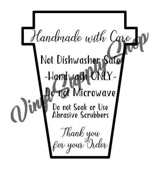 Business Resources Vinyl Supply Shop - Vinyl cup care instructions