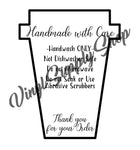Add Your Business Name Coffee Travel Mug Care Tag *Printable*