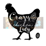 Crazy Chicken Lady Cut File