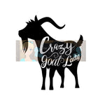 Crazy Goat Lady Cut File