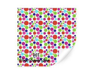 Polka Dot Patterned Vinyl 12x12
