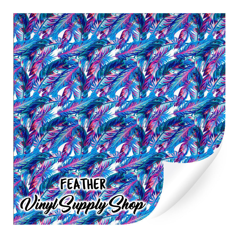 Feather Patterned Vinyl 12x12