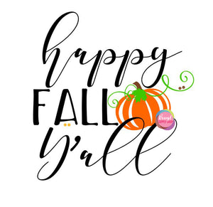 Happy Fall Y'all Cut File