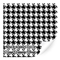 Black Houndstooth Patterned Vinyl 12x12