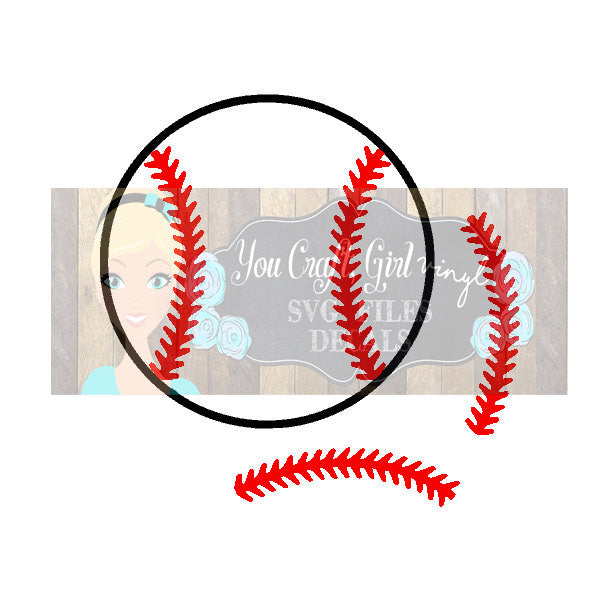 Baseball Stitches Cut File