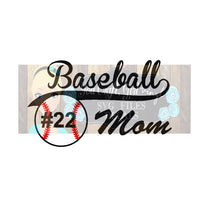 Baseball Mom Cut File