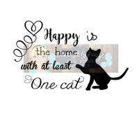 Happy is Home with Cat Cut File