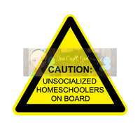 Unsocialized Homeschoolers Set of 4 Svg Dxf Png Pdf Zip File - Commercial Use SVG Digital File car decal - LARGE FAMILY humor funny decal