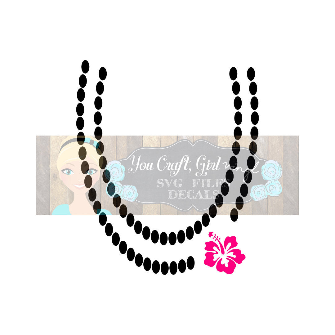 Hibiscus Necklace Design Cut File