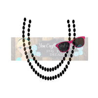 Sunglasses Necklace Design Svg Dxf Png Commercial Use SVG , Baby Jumpsuit Design , Girl Clothes svg , Pearl Necklace svg , chunky bead svg