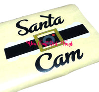 Santa Cam Belt Christmas Svg Dxf Png Pdf  Commercial Use Svg  Santa Camera Ornament svg  holiday svg   naughty or nice svg   vinyl decal svg