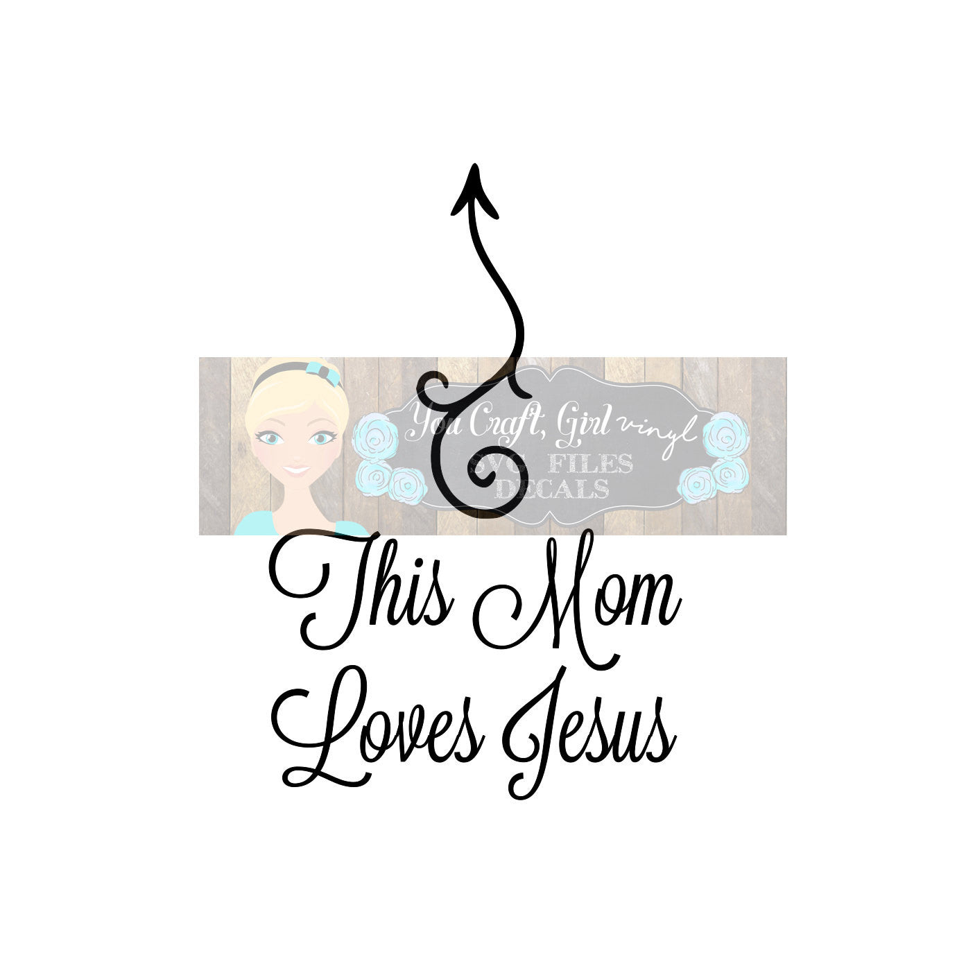 This mom loves jesus arrow svg dxf commercial use svg tshirt svg christian svg religious decal