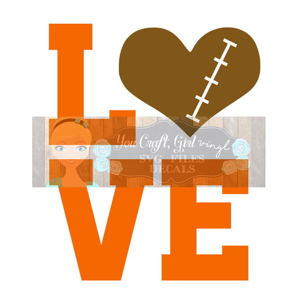 Love Football Svg Dxf Png Pdf Zip File   Commercial Use SVG Digital File car decal   t shirt   clothing   football team   football heart svg