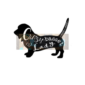 Crazy Basset Lady Cut File