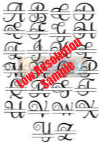 Lot of 26 Split Letter Monogram Designs Svg Dxf Png Zip File   Commercial Use SVG Digital File   Car Decal   Home Decor   Clothing