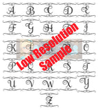 Lot of 26 Monogram Frame Letter Designs Svg Dxf Png Zip File   Commercial Use SVG Digital File   Car Decal   Home Decor   Clothing