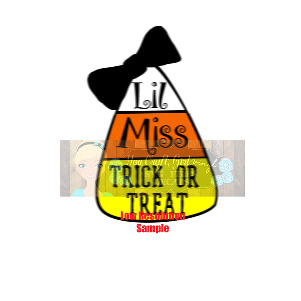 Lil Miss Trick or Treat Svg Dxf Png Pdf   Commercial Use Svg   Halloween Candy Sign   Halloween SVG   Candy Corn svg   Girl Halloween Shirt