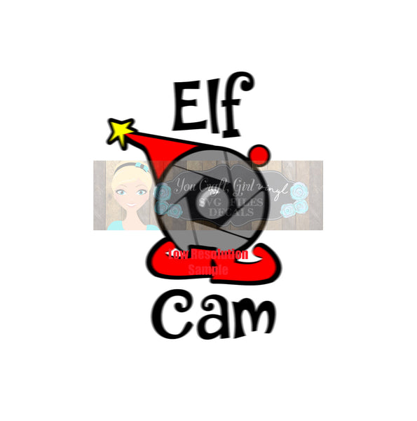 Elf Cam Christmas Cut File